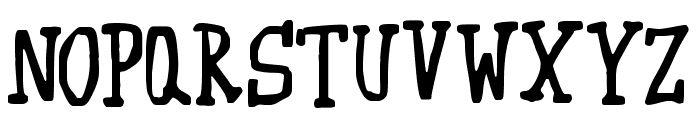Wibble Font UPPERCASE