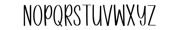 Winter Blush Font LOWERCASE