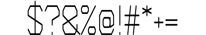 Wired regular Font OTHER CHARS