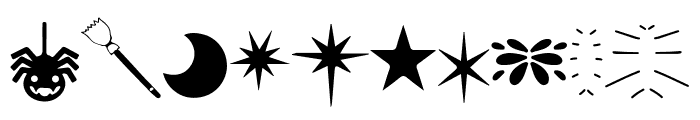 Witchcraft & Wizardry Doodles Font LOWERCASE