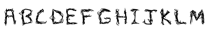 Wizards Scribble Font UPPERCASE