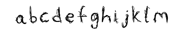 Wizards Scribble Font LOWERCASE