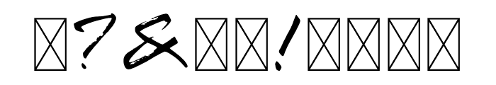 Wokan Brush Font OTHER CHARS