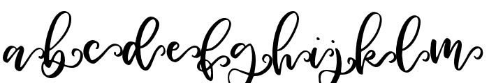 Woodbine-Swashes Font LOWERCASE