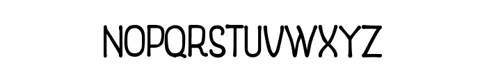 Woodend Font LOWERCASE