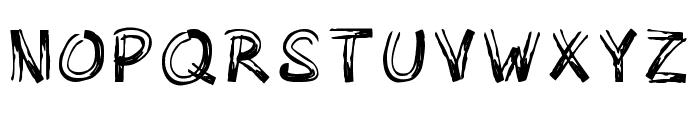 Woody Comic Regular Font UPPERCASE