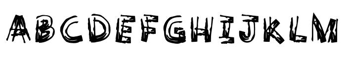 WoodyComic-Bold Font UPPERCASE