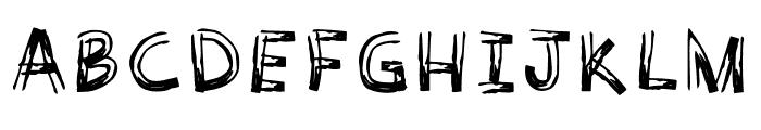 WoodyComic-Regular Font UPPERCASE