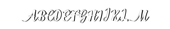 WorksideShadow Font UPPERCASE