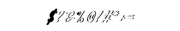 WorksideSlantShadow Font OTHER CHARS