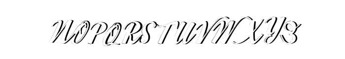 WorksideSlantShadow Font UPPERCASE
