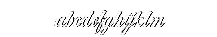 WorksideSlantShadow Font LOWERCASE