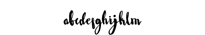 Wowangle Brush Font LOWERCASE