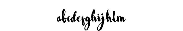 WowangleBrush Font LOWERCASE