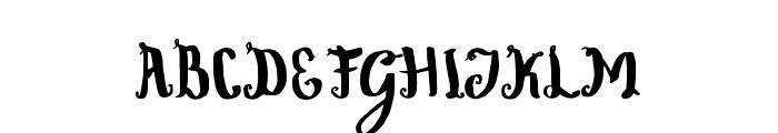 WowangleSwashLowercase Font UPPERCASE