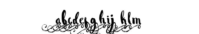 WowangleSwashLowercase Font LOWERCASE