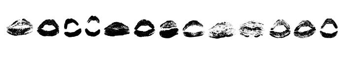 XOXO Misti Regular Font UPPERCASE