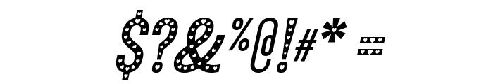 Xhers Alove Italic Font OTHER CHARS