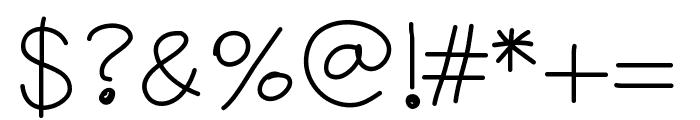 YBGlaringSun Font OTHER CHARS