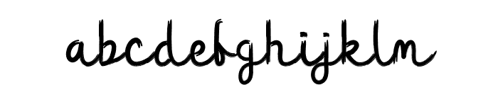 Yellow Bee Font LOWERCASE