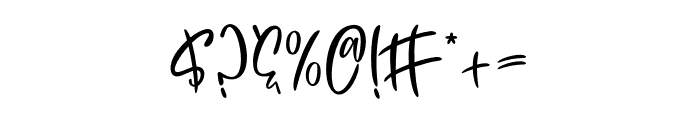 Yellow Butterfly Font OTHER CHARS