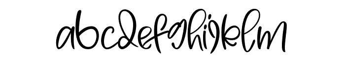 Yellow Butterfly Font LOWERCASE