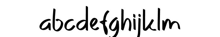Yellow Kitchen Font LOWERCASE