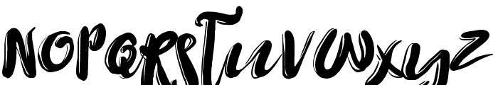 Yellow Taxi Font LOWERCASE
