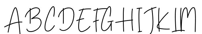 Yellowbells Font UPPERCASE