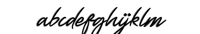 Yellowish Font LOWERCASE