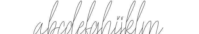 Yellowstone Font LOWERCASE