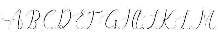 Yhasmeera Font UPPERCASE