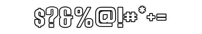 Young Sprime Outline Font OTHER CHARS