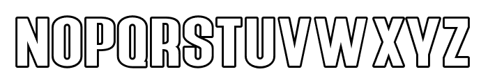Young Sprime Outline Font UPPERCASE