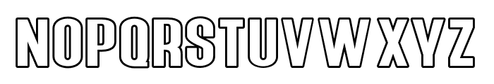 Young Sprime Outline Font LOWERCASE