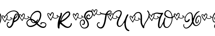 Your Valentine Font UPPERCASE