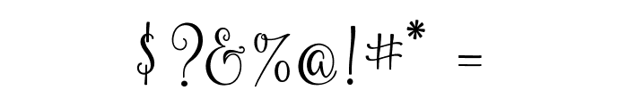 Yulinda Script Font OTHER CHARS