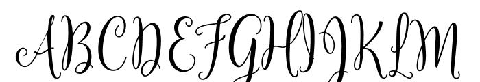 Yulinda Script Font UPPERCASE