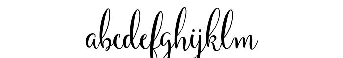 Yulinda Script Font LOWERCASE