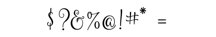 YulindaScript Font OTHER CHARS