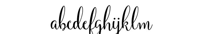 YulindaScript Font LOWERCASE