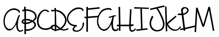 ZPBoogiescript Font UPPERCASE