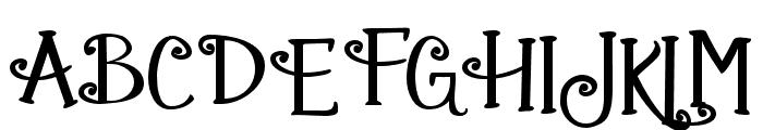 ZPGingerbreadCake Font UPPERCASE