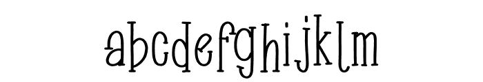 Zachary Font LOWERCASE