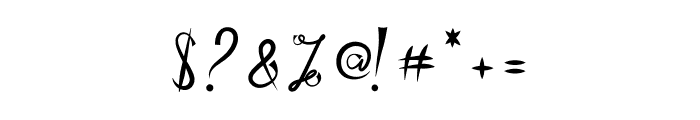 Zamellia Font OTHER CHARS