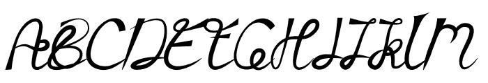 Zamellia Font UPPERCASE