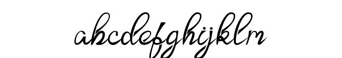 Zamellia Font LOWERCASE