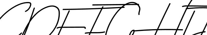 Zingland Font UPPERCASE
