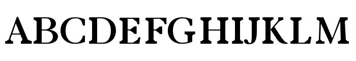 Zural regular Font UPPERCASE
