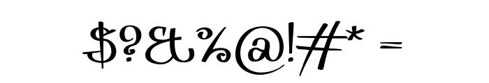 Zurika-Regular Font OTHER CHARS